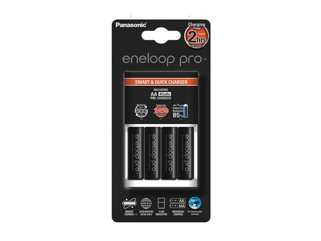 Захранвания Panasonic Eneloop Smart-Quick Charger 4xAA 2450 mAh