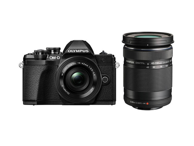 Mirrorless Olympus OM-D E-M10 Mark III с ED 14-42mm EZ и ED 40-150mm R